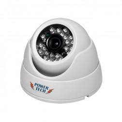 Câmera Dome Branca Digital Infravermelho de 25 Metros 24 Leds AHD 720 Pixels - TECASISTEMAS