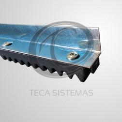 Cremalheira de Alumínio Chapa Fina M4 de 0,5 Metro