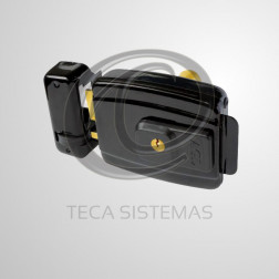Fechadura Elétrica Preta 12V (Abertura Interna) - AGL