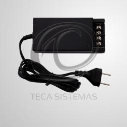 Fonte Compacta para CFTV 12V 5A C/ Pino C/ Filtro Bivolt Automático - MCM