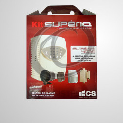 Kit Central de Alarme Supéria 4000 D4 Júnior S/ Bateria - CS