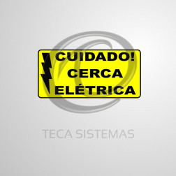 Placa Cuidado Cerca Elétrica (10 Unidades) - CONFIHASTES