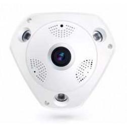 Câmera IP Infravermelho 3 Leds 960p WIFI Lente Olho de Peixe 360° - VR CAM