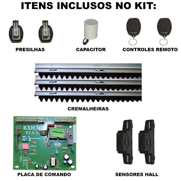 Esta é a composição do kit de motor deslizante
